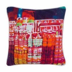 Tea Cup Canvas Cushion Cover
