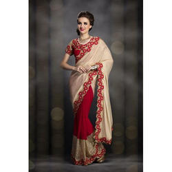 Georgette Indian Plain Designer Sarees