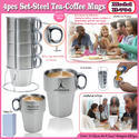 4pcs set-Steel Tea-Coffee Mug H-704