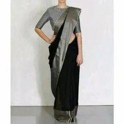 Ladies Casual Bhagalpuri Silk Saree, With Blouse Piece, 6.5 m
