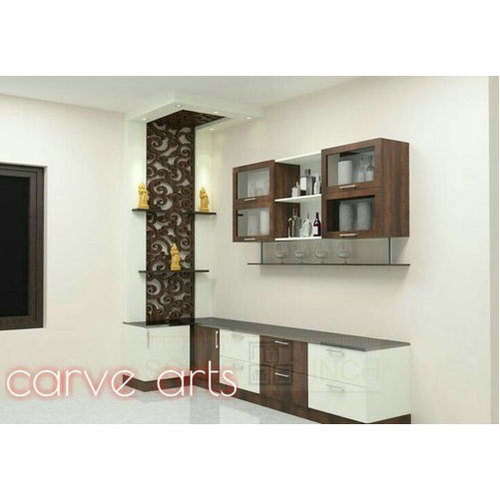 Modular Cabinets Living Room: Modular Crockery Cabinet, Kitchen And Drawing Room, Rs 850