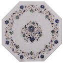 Pietra Dura Handicraft Inlay Work Coffee Marble Center Table