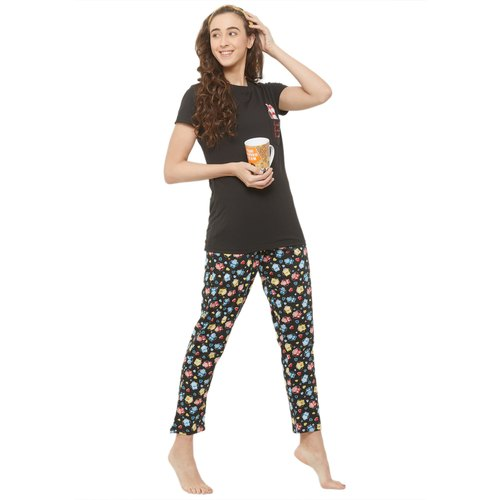 Evolove Printed & Pocket Style Ladies Night Suits(Pajama Set)