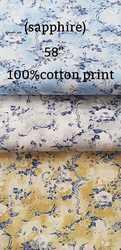 Cotton Print Shiritng Fabric (Sapphire)
