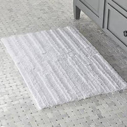 White Cotton Bath Mats