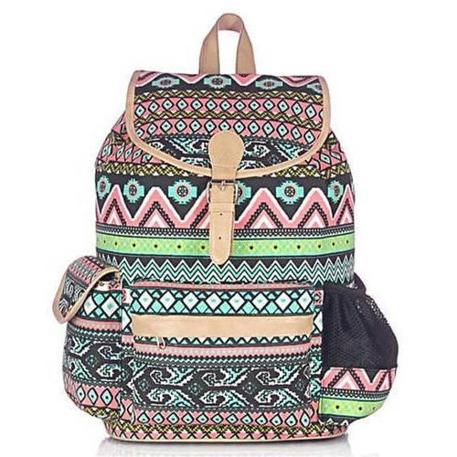 Canvas Aztec Backpack With Laptop Protection Sleeve 7db8af767251