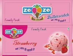 Flavours: Butter Scotch ZOZO STRAWBERRY FAMILY PACK 700 ML