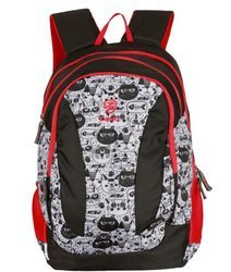Red Black Pencil Pouch Backpack