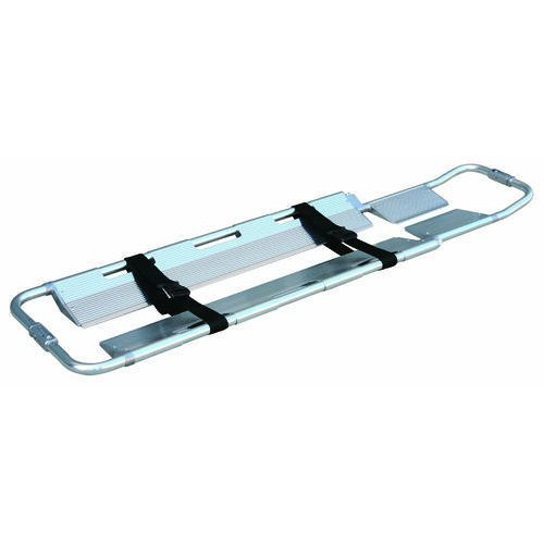 Silver Foldable Scoop Stretcher, Size: 6 feet