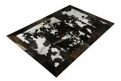 Brown Handmade Hair On Leather Carpet By Rugs In Style