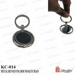 Giftm@Rt Metal Round Revolving Keychain for Promotional