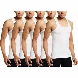 Cotton/Linen White VIP Supreme Men Sleeveless Cotton Vest, Size: 85-90 (cm)