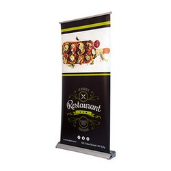 Deluxe Wide Base Single Screen Roll Up Banner Stands