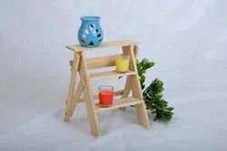 Natural Wood Mini Decorative Stairs, For Home, Size/Dimension: 30.5 x 20.3 x 6.4 Cm
