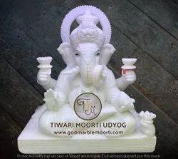 Dagdu Seth Halwai Marble Ganesh Statue