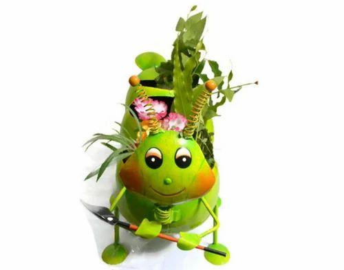 Decorative Green Color Caterpillar Home Decor Show Piece