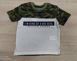 Cotton Casual Wear Kids Printed Tshirt