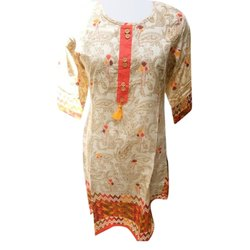 Ladies Short Cotton Straight Kurti