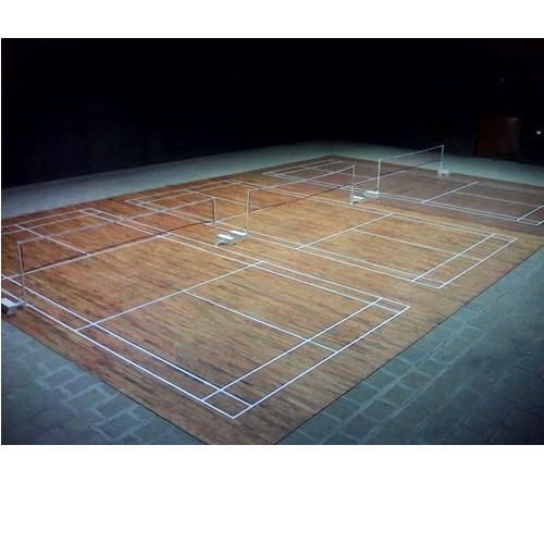 Indian Teak Wood Badminton Court Teak Badminton Court