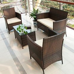 Garden Rattan Up Straight Chair