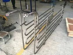 Titanium Cooling Coils for Acid Zinc Plating