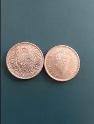 1940 25 Paise Silver Coin