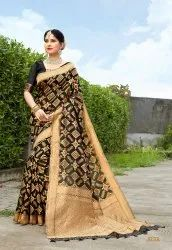 Traditional Banarasi Saree, Length: 6.3 m