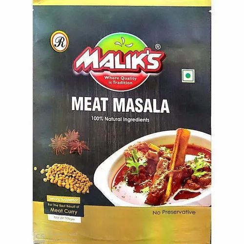 Malik Meat Masala Powder, Features: 100% Pure And Natural