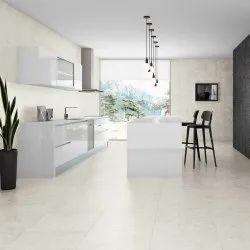 White Glossy Floor Tile, Thickness: 5-10 Mm