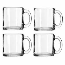 Plain Model Name/Number: Clear Glass Transparent Mugs, For Home, Size: 11 Oz
