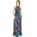Georgette Printed Ladies Cocktail Gown, Size: S & Xxl
