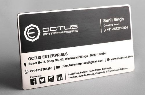 Stainless steel business card at rs 85 piece metal business card stainless steel business card reheart Images