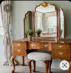 My Company Wooden Colour Natural Polish Drasing Table Nizam, For Hotel