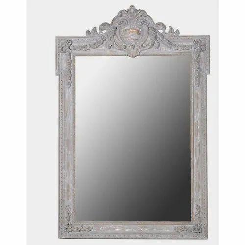 MDF Grey Fancy Mirror Frame, Size/Dimension: 12*8 Inch