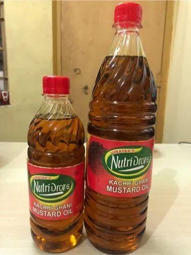 Kachchi Ghani Nutri Drops Pure Kacchighani Mustard Oil, Rs ...
