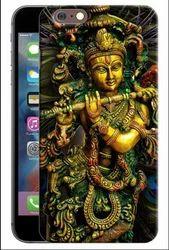 Multicolor 3D Lord Krishna Designer Mobile Back Cover For Apple IPhone, 6