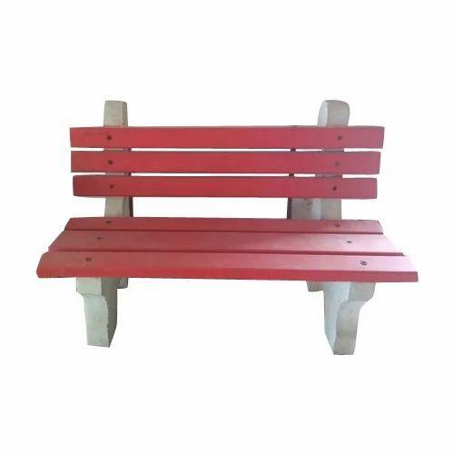 ACC Yellow, Red Garden Bench