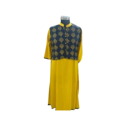 Ladies Cotton Kurti with Jacket