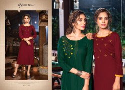 Poshaak Subh NX Rayon With Hand Work Trendy Kurtis