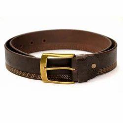 Male Stripped Leather Belt