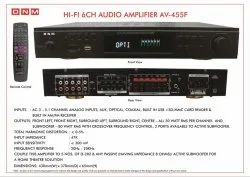 Hi Fi 6 Channel Amplifier, Model Name/Number: AV-455F