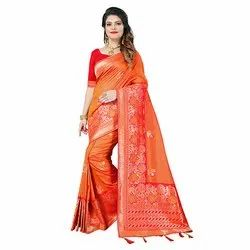 1510 Ladies Designer Jacquard Silk Saree