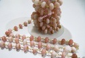 Pink Opal Rondelle Faceted Beaded Chain