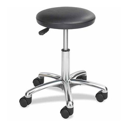 ESD Stool With Height Adjustable Chrome Star Base