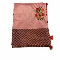 Ladies Fashion Embroidered Cotton Saree