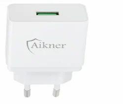 Aikner Single Port USB Charger - White Color