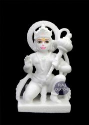 Raj Creations Marble Hanuman Ji Statue
