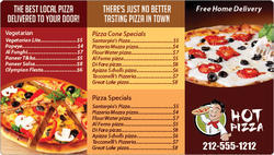 Printed Pizza Pamphlets