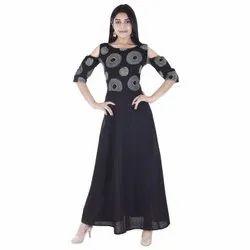 Party Wear Designer Crepe Kurti, Size: S-Xxl, Wash Care: Machine Wash