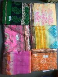 Casual Wear Printed Border Saree, With Blouse Piece, 6.3